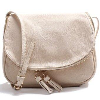 RockLife Fashion Women Bag กระเป๋าสะพายพาดลำตัว Cross-Body Bag 0015 (สีเบจ)