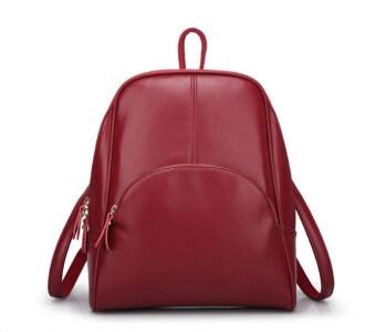 ST MartShop กระเป๋าเป้สะพายหลังหนัง รุ่น st27 (สีแดง)