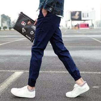 Save กางเกงวอม เอวยางยืด ขาจ้ำยางยืด (น้ำเงิน) รุ่น 119