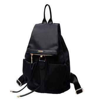 FTshop กระเป๋าเป้สะพายหลัง กระเป๋าแฟชั่น กระเป๋าเดินทาง กระเป๋าเป้ผู้หญิง กระเป๋าเป้เท่ๆ รุ่น38c(สีดำ)