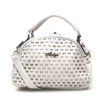 กระเป๋าถือ กระเป๋าสะพาย ผู้หญิง รหัส.69067-1 (สีเงิน)