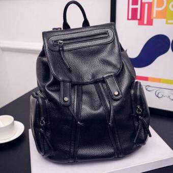 Premium Bag กระเป๋าเป้สะพายหลัง กระเป๋าเป้เกาหลี รุ่น PB018(สีดำ)