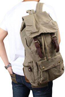 คนโบราณพวกกองทัพสีเขียวกระเป๋าเป้กระเป๋าผ้ากระเป๋านักเรียนเดินป่าท่องเที่ยว (สีเทา)