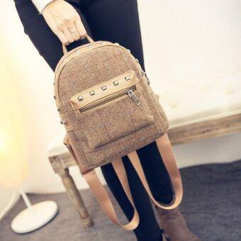 Little Bag กระเป๋าสะพายหลัง กระเป๋าเป้ กระเป๋าแฟชั่นผู้หญิง รุ่น LP-039 (สีน้ำตาล)