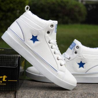 ชายรองเท้าผ้าใบรองเท้าสเก็ตบอร์ดรองเท้าวิ่งรองเท้าข้อเท้า Men's Canvas Shoes Skateboard Shoes Running Shoes Ankle Boots