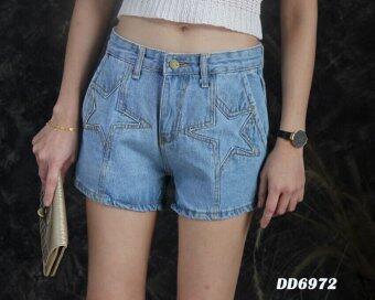 Platinum Fashion กางเกงยีนส์ขาสั้น รุ่นDD6972