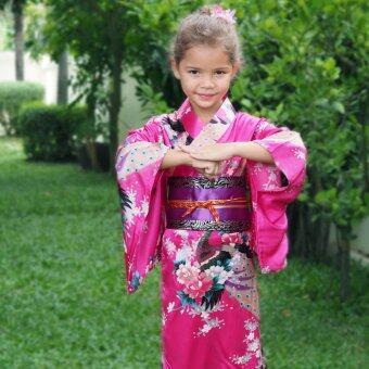 Princess of Asia ชุดกิโมโนญี่ปุ่นเด็ก (สีบานเย็น)