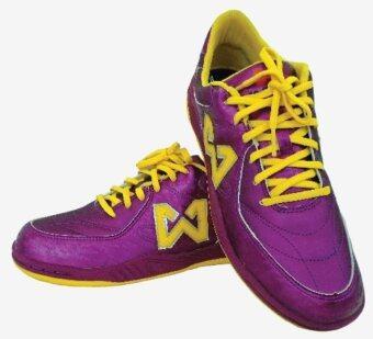 WARRIX SPORT รองเท้าฟุตซอล WF-1402 สีม่วง-เหลือง