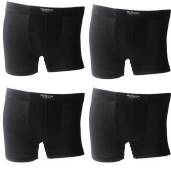MAN COLLECTION กางเกงชั้นในชายแบบเต็มตัว 4 ตัว/แพ็ค ( สี ดำ)
