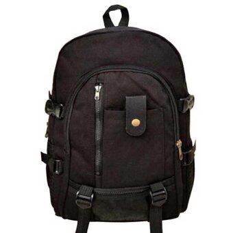 Man Rewards กระเป๋าสะพายหลังผ้าแคนวาส สำหรับสุภาพบุรุษ รุ่น MB-01R (สีดำ)