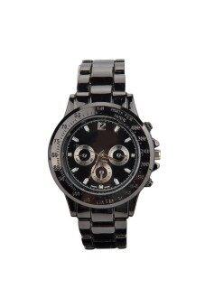 คนสายเหล็กสามนาฬิกาควอทซ์ SubDials นิยมสีดำ