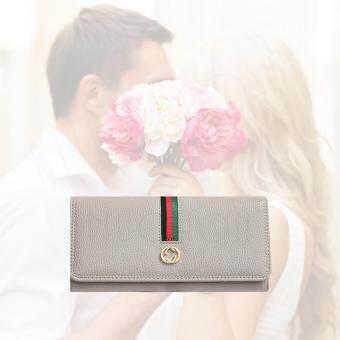 Nuchon Bag GuGhi/Blackกระเป๋าสตางค์ ใส่มือถือ GG Smart Wallet Iphone 6 Plus Size M/Grey