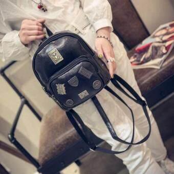 Premium Bag กระเป๋าเป้สะพายหลัง กระเป๋าเป้เกาหลี รุ่น PB022(สีดำ)