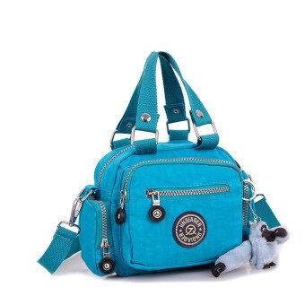 กระเป๋าถือกระเป๋าสะพายกันน้ำเชือกไนลอนเส้นข่าวท้องฟ้าสีคราม