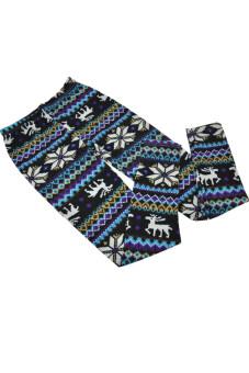 ผู้หญิงชวนสโนว์เฟลค Toprank กวางในฤดูใบไม้ร่วงอบอุ่นกางเกงขาก๊วยกางเกง 17Types (หลายสี)