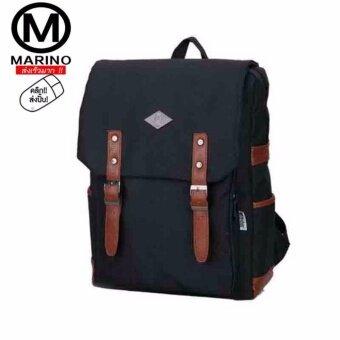 Marino กระเป๋า กระเป๋าเป้ กระเป๋าสะพายหลัง กระเป๋าใส่โน๊ตบุ๊ค Backpack No.0226 - Black