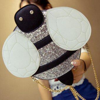 กระเป๋าหนัง ผึ่งน้อย สีเงิน