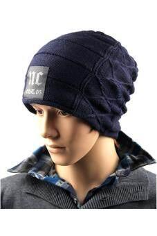 คนสวมหมวกไหมพรมหมวกหญ้าคาในฤดูใบไม้ร่วงฤดูหนาวสวมหัวสีกรมท่า-ระหว่างประเทศ