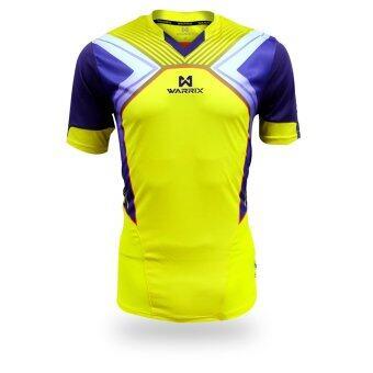 WARRIX SPORT เสื้อฟุตบอลพิมพ์ลาย WA-1521 สีเหลือง-ม่วง