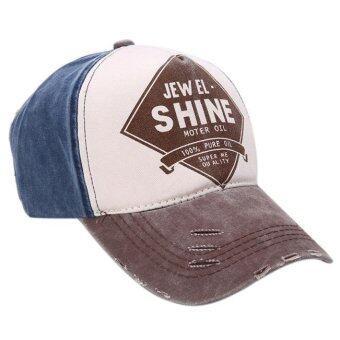 ลายผ้าสำหรับบุรุษ และหมวกเบสบอลสีกาแฟ Snapback