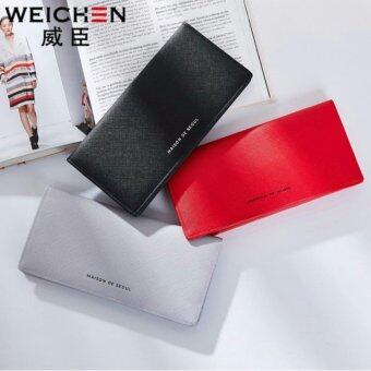 Korean style Maison De Seoul กระเป๋าสตางค์ผู้หญิงใบยาว รุ่น AI-002RD(สีแดง)