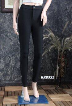 Platinum Fashion กางเกงผ้ายืดขายาวเอวสูง ทรงสกินนี่ รุ่นOR8532