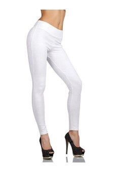 Harga Skinny Zip Leggings White