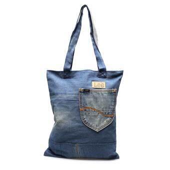 กระเป๋าผ้ายีนส์ รุ่น LE 16801107 สี Indigo