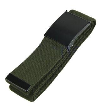 เพศชายบุรุษเข็มขัดสายรัดเอวแบบเอวกางเกงลำลองเข็มขัดผ้าใบสีเขียว-ในประเทศ-