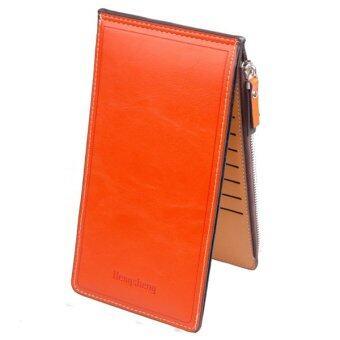 Matteo กระเป๋าเงินใบยาว รุ่น Double Zip B1178 ( สีส้ม )