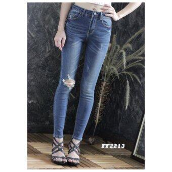 platinum fashion กางเกงยีนส์ขายาว สินค้านำเข้า เนื้อผ้า สีสวย รุ่นPFF2213