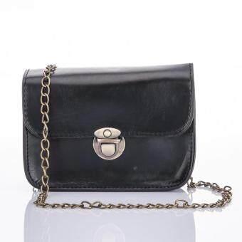 Premium Bag กระเป๋าแฟชั่น กระเป๋าสะพายข้าง รุ่น PB-003 (สีดำ)