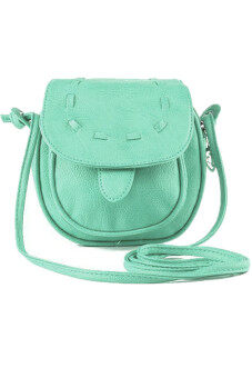 Harga Lovely Leather Mini Adjustable Shoulder Bag (Turquoise)