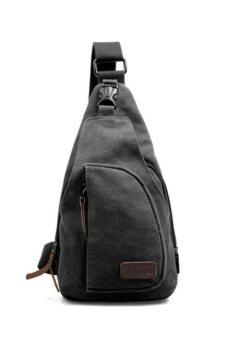 Matteo กระเป๋าสะพาย กระเป๋าไอแพ็ตมินิ กระเป๋าแคนวาส Code 0544 - สีดำ