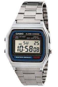 รีวิวสินค้า Casio นาฬิกาข้อมือผู้ชาย สายสแตนเลส รุ่น A158WA-1DF - สีเงิน เช็คราคา