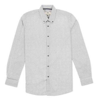 Shirtoria เสื้อเชิ้ตแขนยาว ลายกราฟิก (สีขาว)