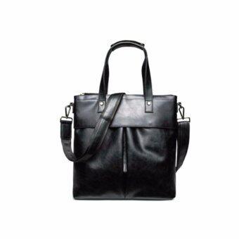 STmartshop กระเป๋าถือสะพายหนังกระเป๋าเดินทาง Messenger รุ่ง stm6403 (สีดำ)