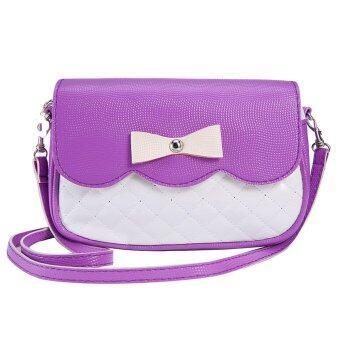 Coconie กุทัณฑ์แฟชั่นกระเป๋าสะพายสีม่วงจัดส่งฟรี