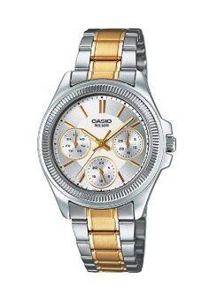 Casio Standard นาฬิกาข้อมือผู้หญิง สายสแตนเลส รุ่น LTP-2088SG-7AVDF - เรือนเหล็กสองกษัตริย์