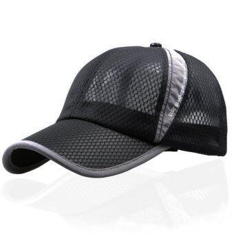 เพศหญิงชายหมวกตาข่ายกีฬาเบสบอลหน้ากากหมวกกีฬากอล์ฟ Snapback ปรับได้