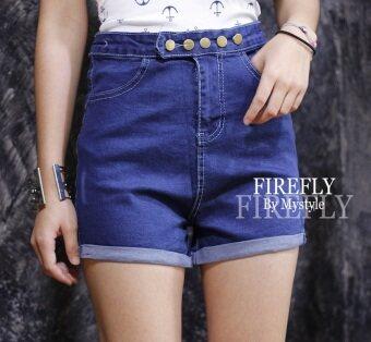 FIREFLY กางเกงยีนส์ขาสั้น เอวสูง แต่งกระดุม รุ่น ND825