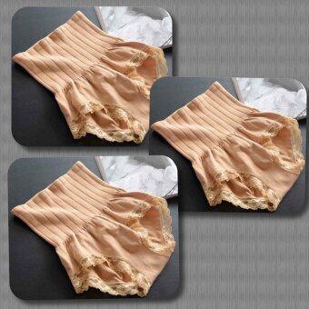 Munafie กางเกงสเตย์ญี่ปุ่นเก็บพุง ลดพุง กระชับสัดส่วน (แพ็คสีเนื้อ 3 ตัว)