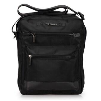 TOP POWER กระเป๋าสะพายข้าง โพลีเอสเตอร์กันน้ำขนาด11นิ้ว(Black)