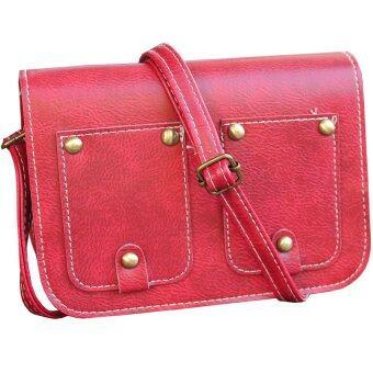 Peimm Modello กระเป๋าสะพาย แฟชั่นเกาหลี (สีแดง)