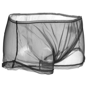 Harga Sexy Black Transparent Mens Boxers Shorts See Through Mesh Boxers Briefs Black - Intl