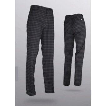 EXCEED กางเกงกอล์ฟผู้ชายขายาว #19 สีดำลายสก็อต (KUZ003) PGM Men's Golf PANTS Gentleman Plaid Quick Dry Sport Trousers Summer Breathable Short XXS-3XL BLACK COLOUR