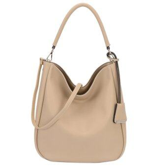 DAVIDJONES Women Synthetic Leather Shoulder Bag Hobo Bag กระเป๋า- intl