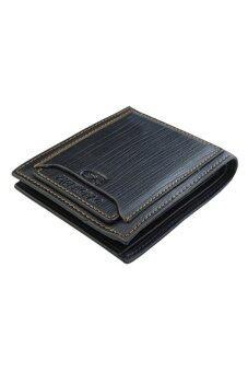 Bluelans สุขากระเป๋าสตางค์หนังเทียมที่เก็บบัตรเงิน (สีดำ)