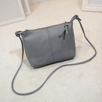 กระเป๋าหนัง Pu สารแอลวีมินิกระเป๋าสะพาย (สีเทา)