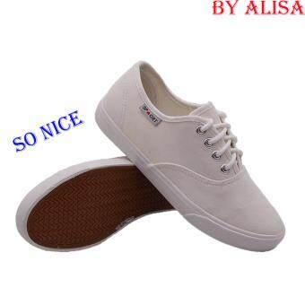 Alisa Shoes รองเท้าผ้าใบแฟชั่น รุ่น 2655 White